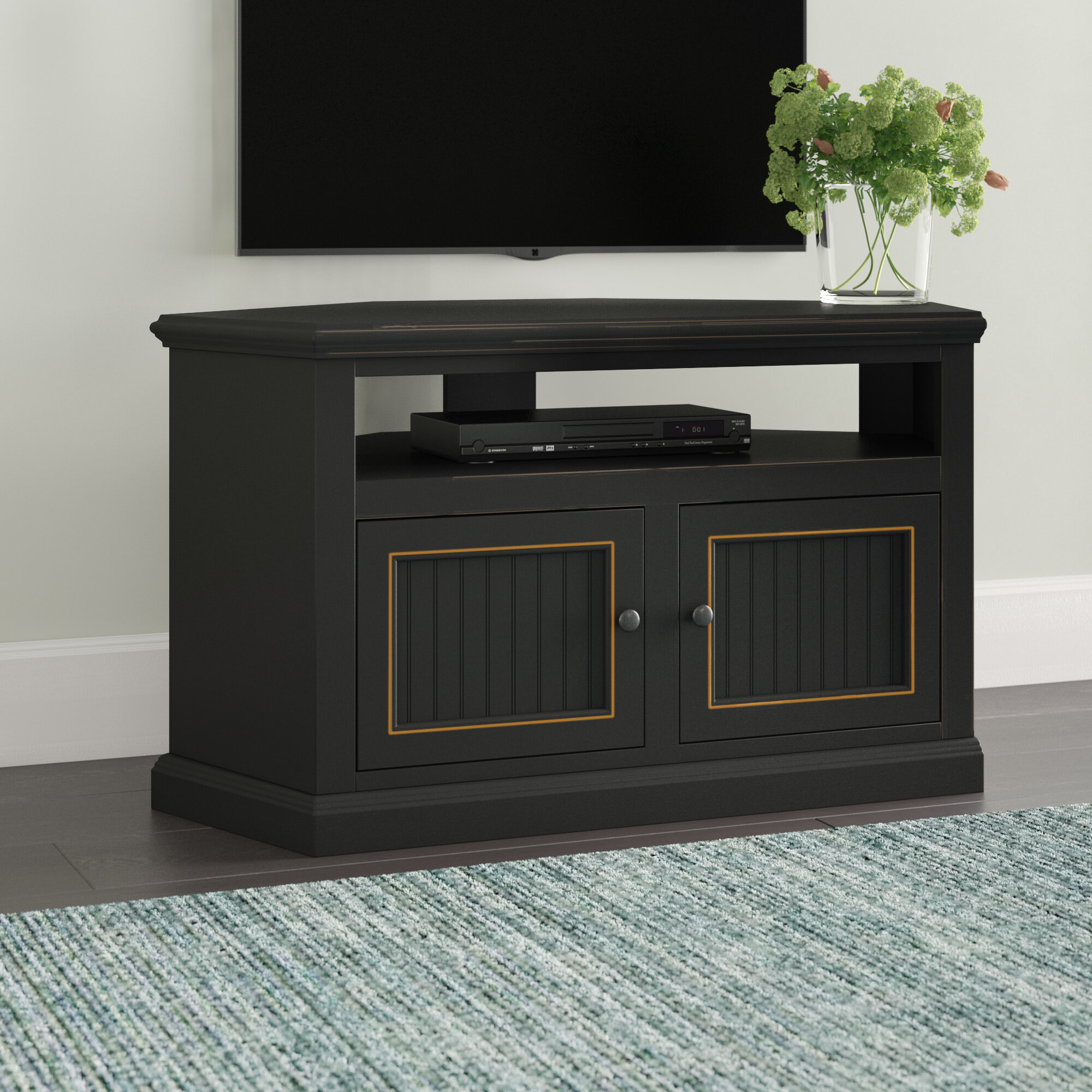 Beachcrest Home Coconut Creek Corner TV Stand for TVs up to 55