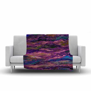 Shop For Ebi Emporium Marble Idea! Rich Jewel Tone Fleece Blanket By East Urban Home
