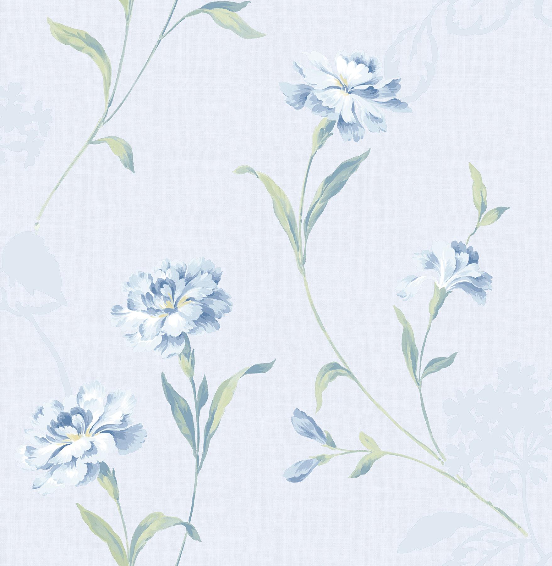 House Of Hampton Cristiano Floral 33 X 20 5 Wallpaper Roll Wayfair