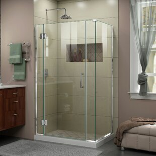 DreamLine Unidoor-X 40 in. W x 30 3/8 in. D x 72 in. H Frameless Hinged Shower Enclosure