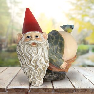 Palen Solar Mooning Gnome With Bird Statue By Red Barrel Studio