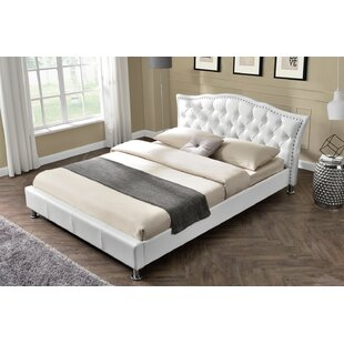 Foley Diamante Studded Italian Designer Upholstered Bed Frame By Rosdorf Park