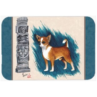Chihuahua Totem Glass Cutting Board