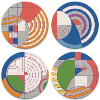 Ivy Bronx Frank Lloyd Wright Hollyhock Detail Coaster Wayfair