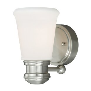 Abrielle 1-Light Bath Sconce by Charlton Home