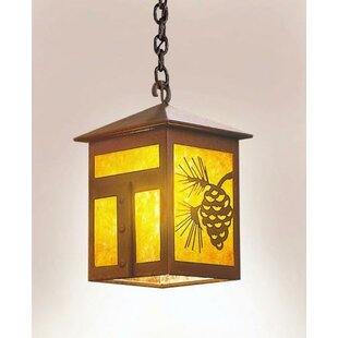 Mission 1-Light Outdoor Hanging Lantern by Steel Partners