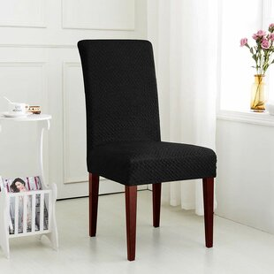 Seersucker Jacquard T-Cushion Dining Chair Slipcover (Set Of 2) By Red Barrel Studio