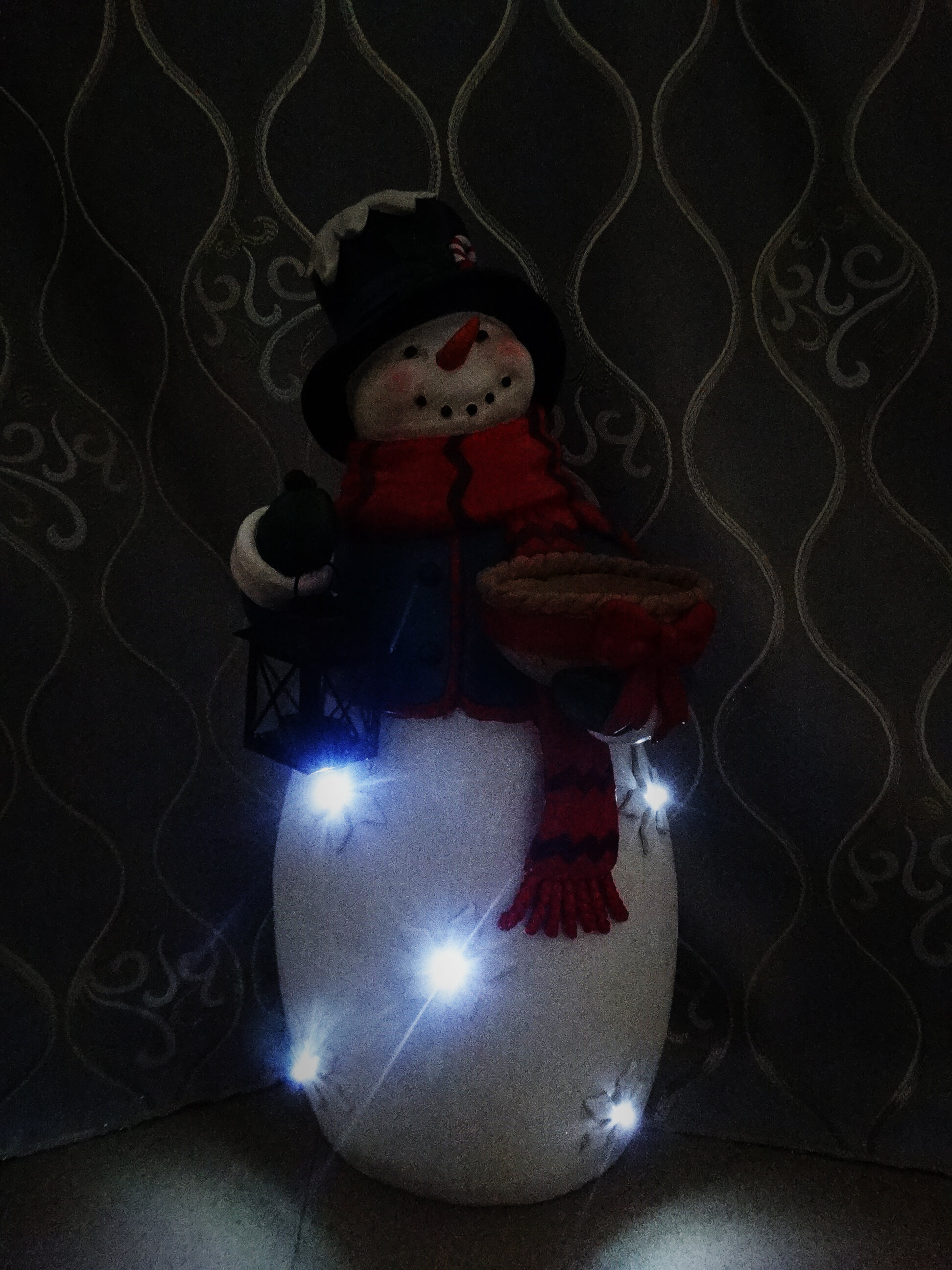 alpine christmas snowman statue with led lights wayfair