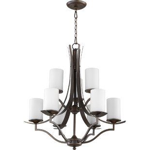 Quorum Atwood 9-Light Shaded Chandelier