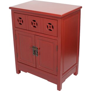 Walls Wooden Accent Cabinet With 1 Drawer And 2 Doors