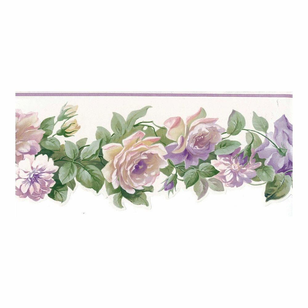 August Grove Medlin Rose Buds 15 L X 5 W Wallpaper Border Wayfair