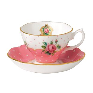 Vintage Teacup and Saucer (Set of 2)