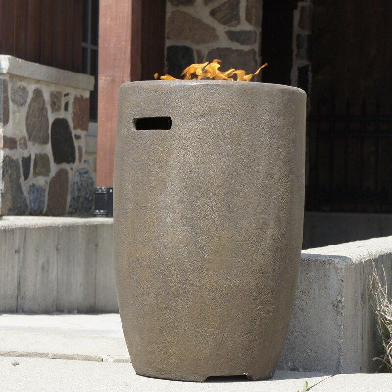 Polyresin Propane Fire Column Amp Reviews Allmodern