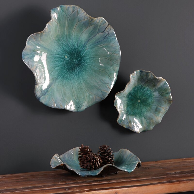 Favorite Latitude Run 3 Piece Ceramic Flowers Wall Décor Set & Reviews  AG78