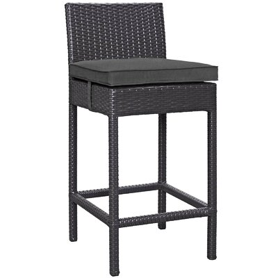 Astounding Latitude Run Proto 275 Patio Bar Stool With Cushion Ibusinesslaw Wood Chair Design Ideas Ibusinesslaworg