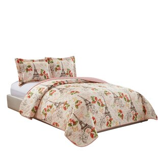 Paris Reversible Quilt Set