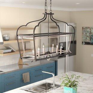 Laurel Foundry Modern Farmhouse Evangeline 6-Light Kitchen Island Pendant