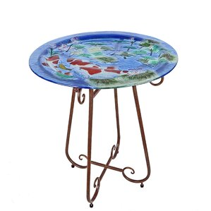 Koi Pond Bistro Table by Continental Art Center