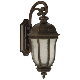 Charlton Home Oakhill Peruvian Bronze 1-Light Outdoor Wall Lantern