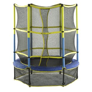 Upper Bounce 5' Round Trampoline with Safety Enclosure