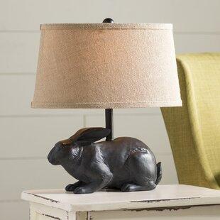 August Grove Garth Rabbit 17'' Table Lamp