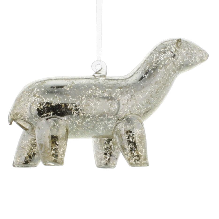 The Holiday Aisle Glass Bear Ornament Hanging Figurine Ornament Wayfair