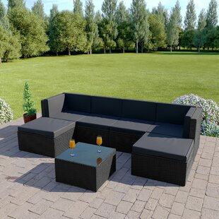 Skyler 6 Seater Rattan Corner Sofa With Cushions By Sol 72 Outdoor