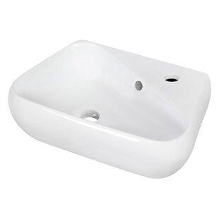Shop For Ceramic 18 Wall Mount Bathroom Sink with Overflow ByRoyal Purple Bath Kitchen