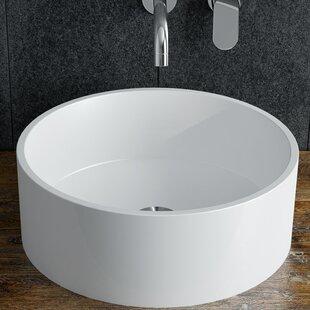 Best Reviews Bassini Polymarble Circular Vessel Bathroom Sink By Calma