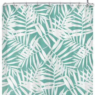 Cafelab Pastel Palm Leaves Single Shower Curtain