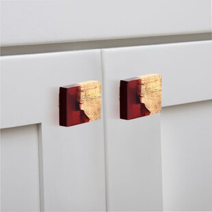 Handpainted Frosted Rectangle Knob (Set of 8)