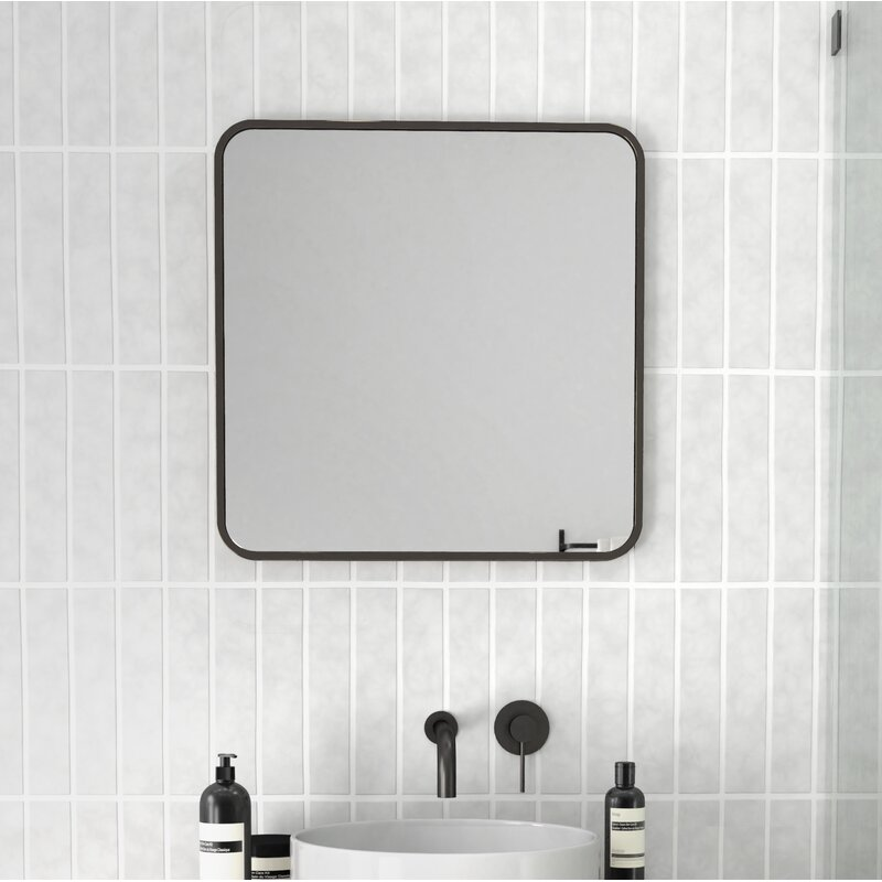 Glass Warehouse Radius Corner Modern Contemporary Bathroom Vanity Mirror Reviews Wayfair