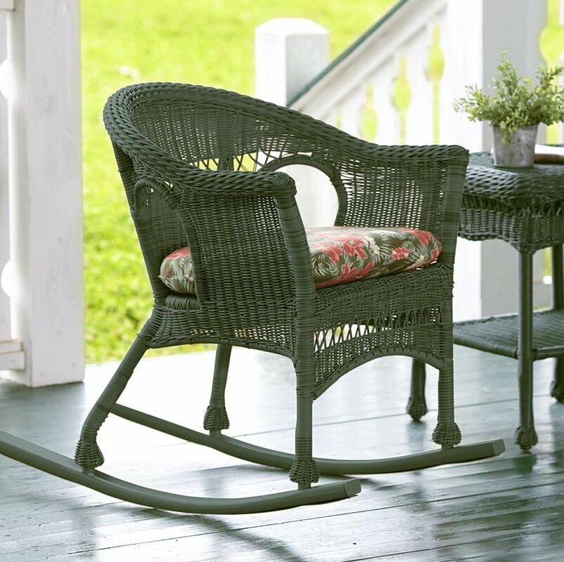 Attractive Easy Care Wicker Rocking Chair