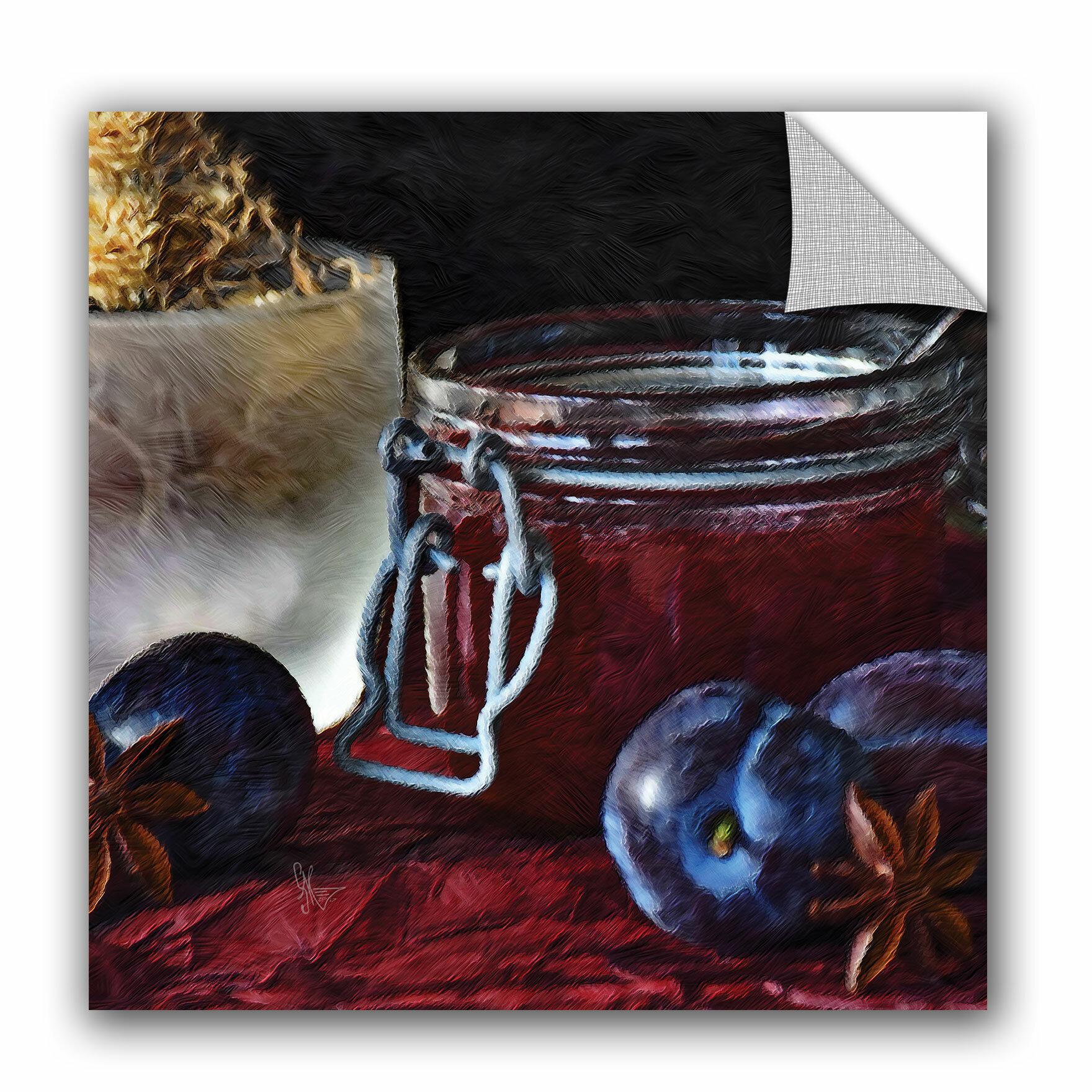 August Grove Jaquez Homemade Blueberry Jam Removable Wall Decal Wayfair