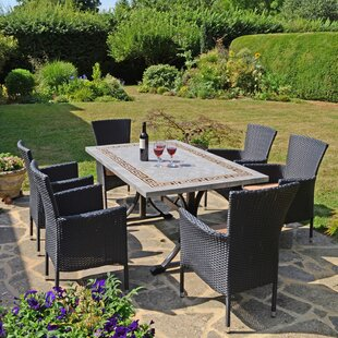 Destiney 6 Seater Dining Set With Cushion By Sol 72 Outdoor