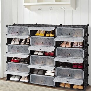 Best Deals 18 Pair Shoe Storage Cabinet By Rebrilliant