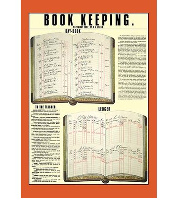 Book Keeping By Ro Evans Framed Graphic Art Buyenlarge