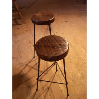 3 Leg Rebar Factory Bar Stool -- Chair Height (Set of 4) by The Strong Oaks Woodshop SKU:EE974780 Buy