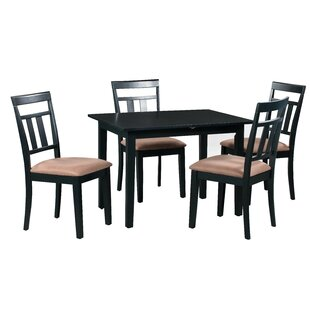 Fontinella 5 Piece Extendable Solid Wood Dining Set by Alcott Hill Discount