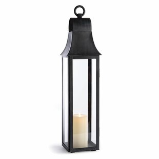 Where buy  Outdoor Glass and Metal Lantern By Three Posts