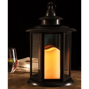 Charlton Home LED Light Battery Operated Plastic Lantern