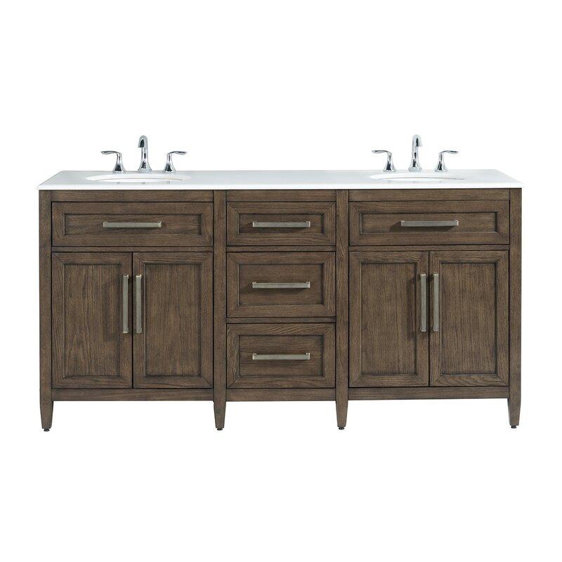 Coastal Farmhouse Dash 71 Double Bathroom Vanity Set Reviews Wayfair