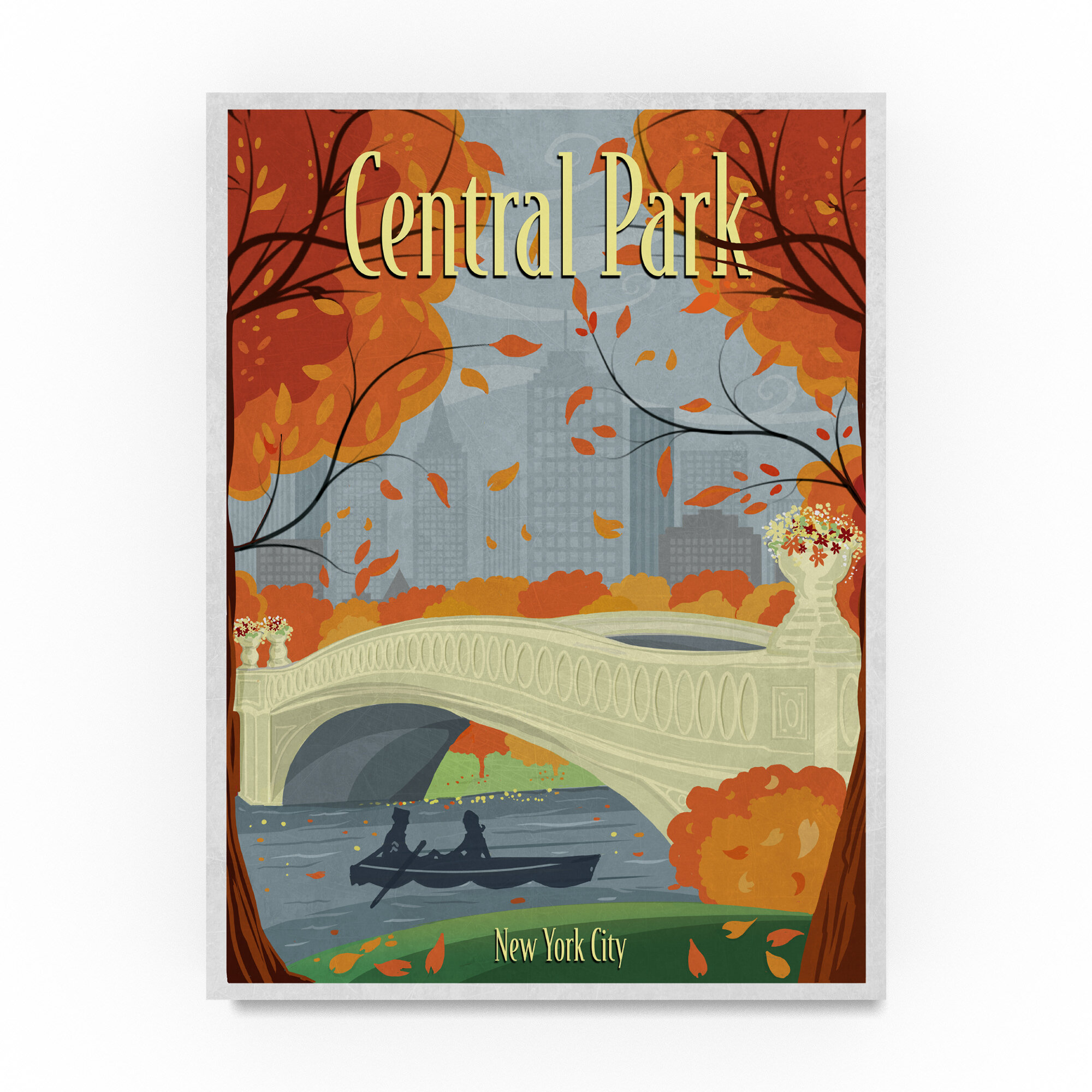 Trademark Art Central Park Graphic Art Print On Wrapped Canvas Wayfair