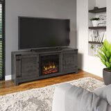 Guadalupe TV Stand for TVs up to 65 with Fireplace Included by Laurel Foundry Modern Farmhouse