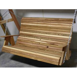 Churchton High Back Cedar Porch Swing by Rosecliff Heights