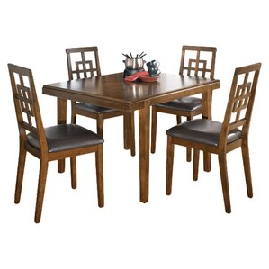 Eddie 5 Piece Dining Set by World Menagerie