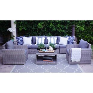 Burkley 7 Piece Sectional Seating Group with Cushions