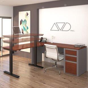 Orren Ellis Aurea L-Shape Desk Office Suite