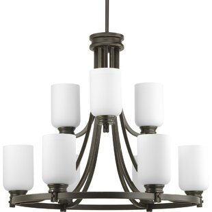 Latitude Run Raynard 9-Light Shaded Chandelier
