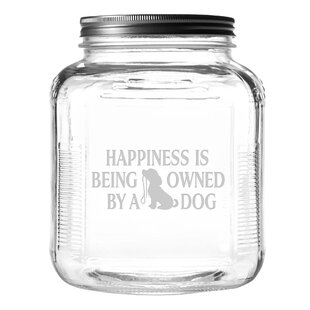 Owned By a Dog 4 qt. Pet Treat Jar